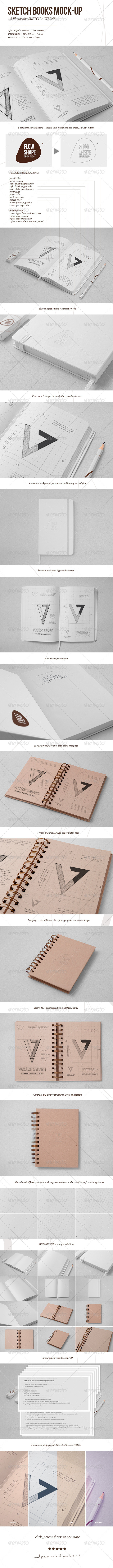 GraphicRiver Sketchbook Mock-up & Sketch Actions 5689835