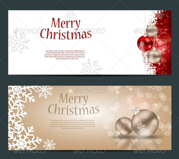 GraphicRiver Set of Cards with Christmas Balls Stars and Snowflakes 5689853