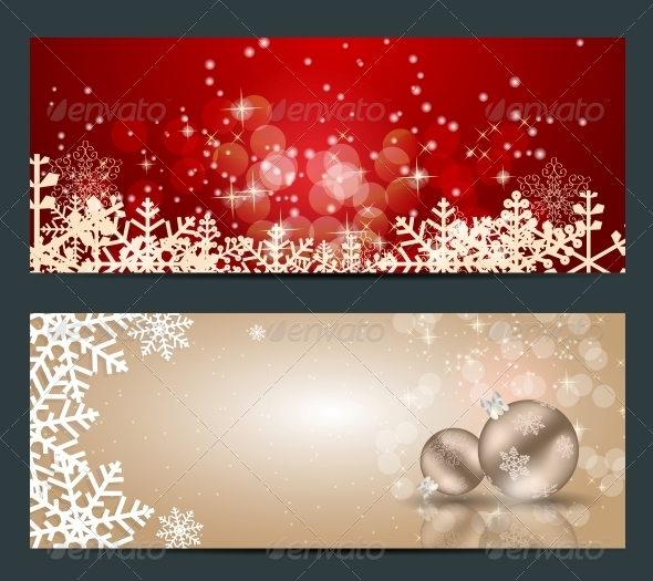 GraphicRiver Set of Cards with Christmas Balls Stars and Snowflakes 5689916