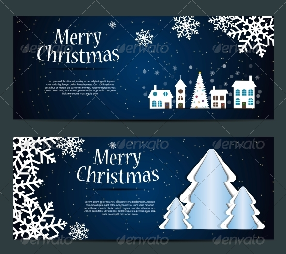 GraphicRiver Set of Cards with Christmas Balls Stars and Snowflakes 5689962
