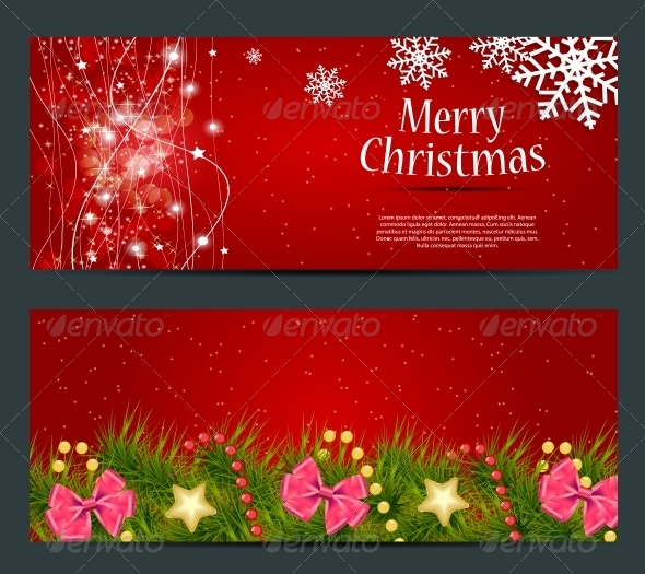 GraphicRiver Set of Cards with Christmas Balls Stars and Snowflakes 5689992