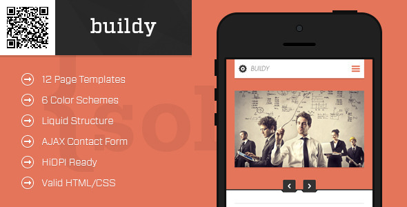 buildy | Mobile HTML/CSS Portfolio Template - Mobile Site Templates