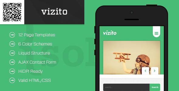 vizito | Mobile HTML/CSS Portfolio Template - Mobile Site Templates