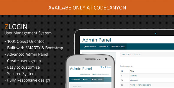 Zlogin - Simple Login System with Bootstrap - CodeCanyon Item for Sale