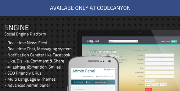 Sngine - Social Engine Platform - CodeCanyon Item for Sale