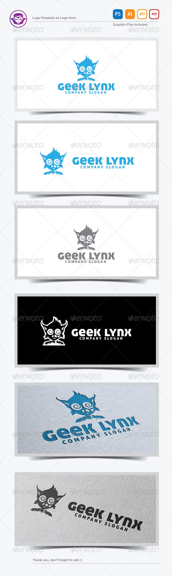 GraphicRiver Geek Lynx Logo Template 5690976