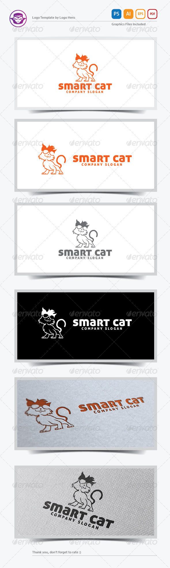 GraphicRiver Smart Cat Logo Template 5690983