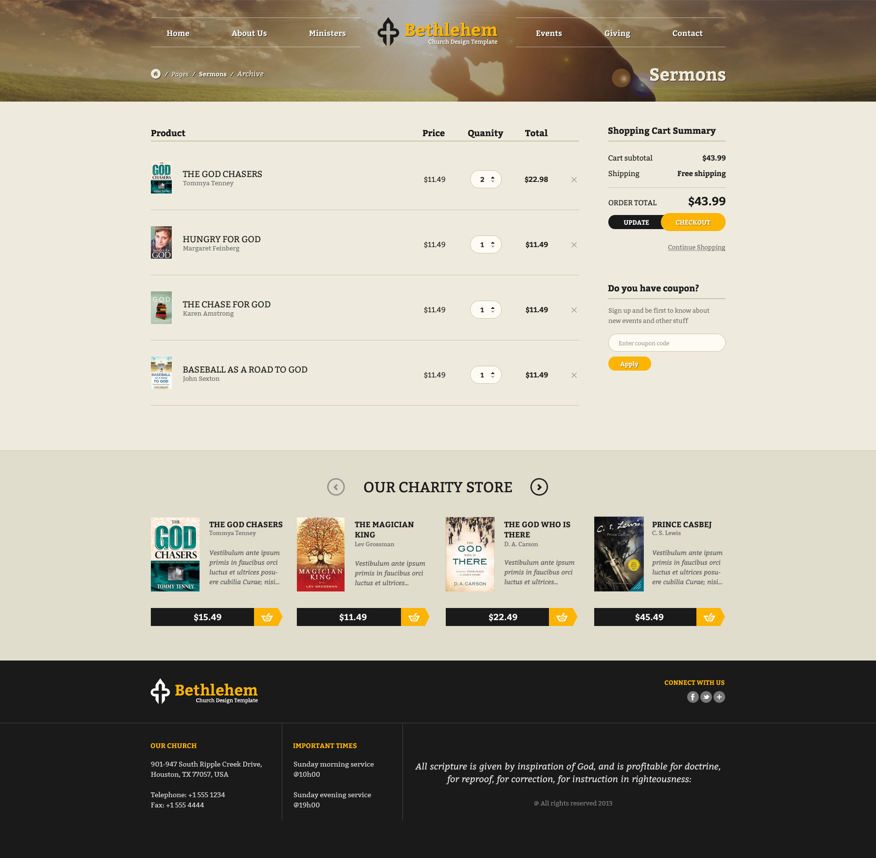 Bethlehem - Multipurpose Church PSD Template