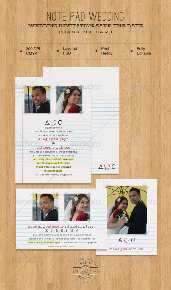 Note Pad Wedding