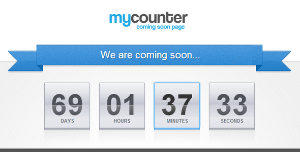 myCounter - Coming Soon Page