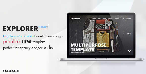 ThemeForest Explorer One Page Parallax Template 5684696