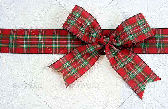 Plaid Christmas Bow