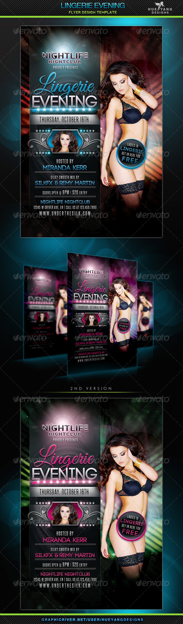 Lingerie Evening Flyer - Clubs & Parties Events