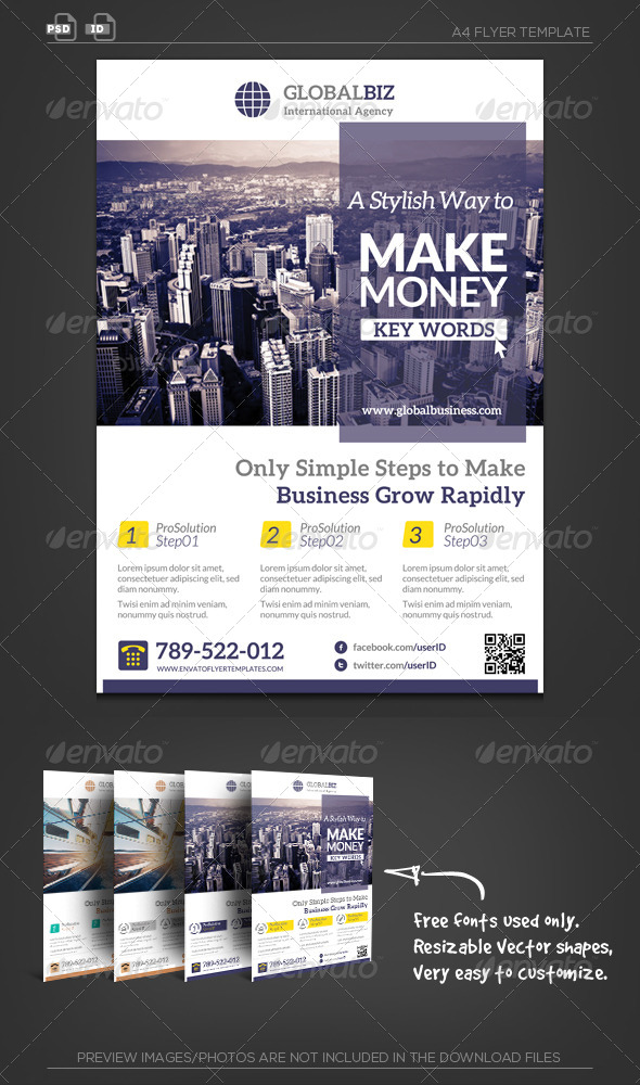 GraphicRiver Global Business Flyer 5691750