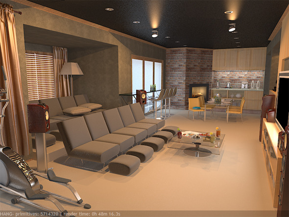 3DOcean Interior Basement 5691887