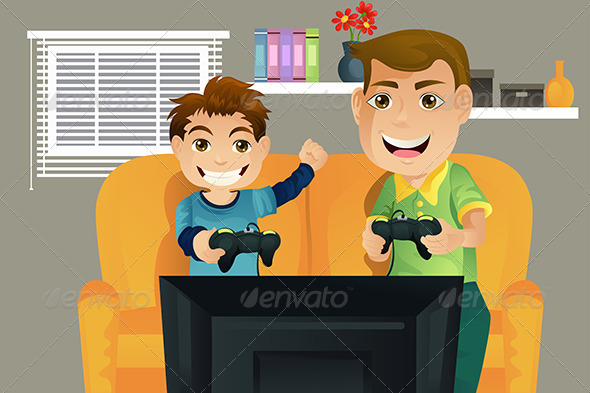 GraphicRiver Father and Son 5692211