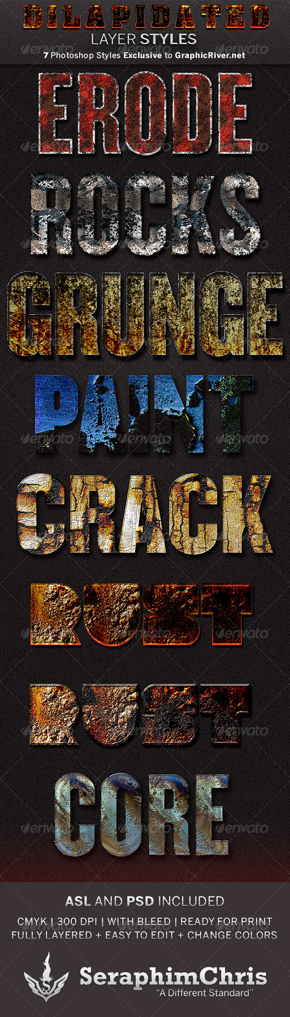 GraphicRiver Dilapidated Photoshop Layers Styles 5692242