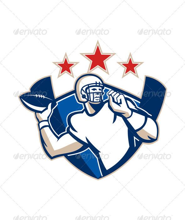 GraphicRiver Gridiron Football Quarterback Throw Ball 5692252