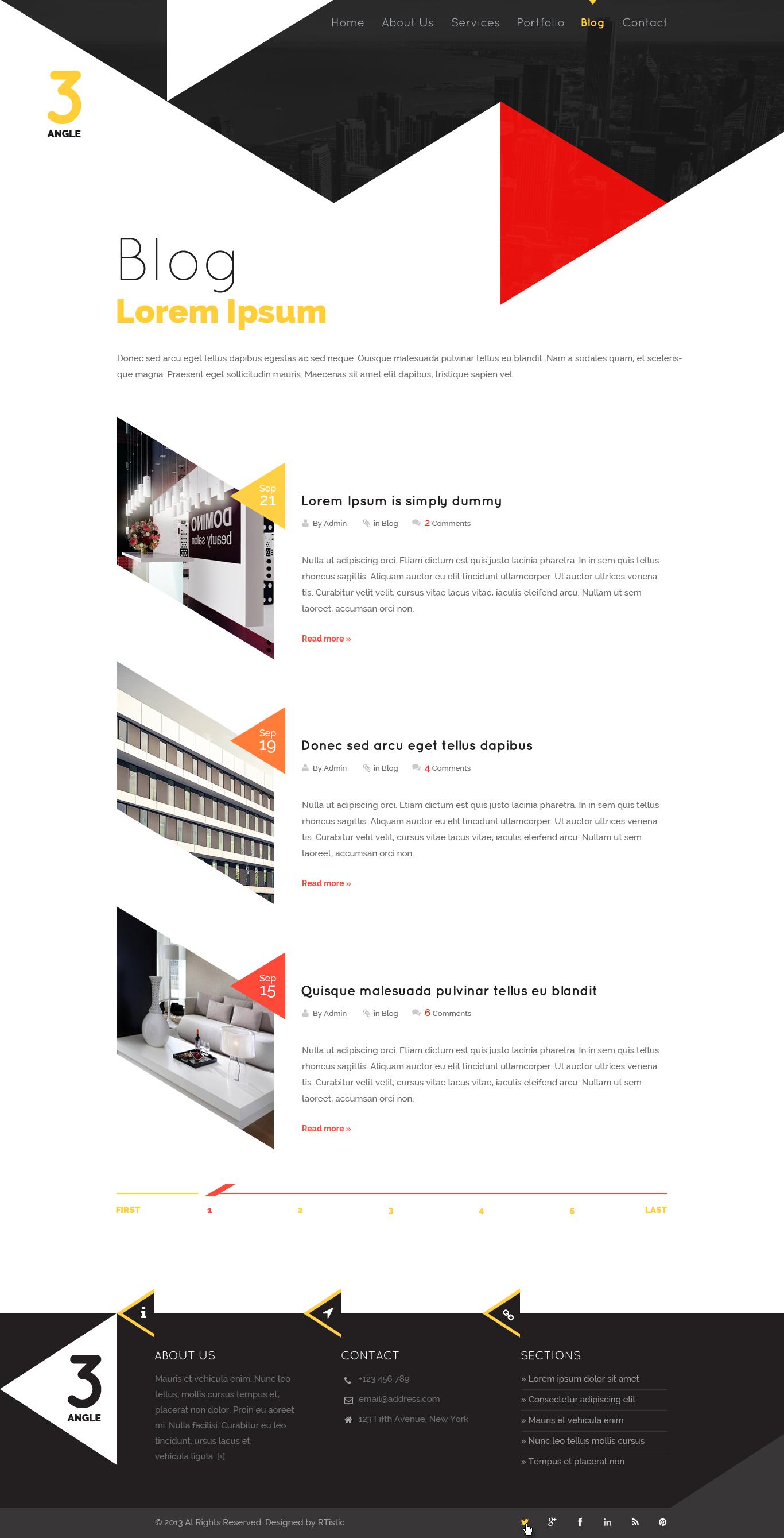3Angle - Creative & Modern MultiPurpose Theme