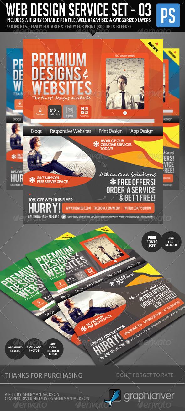GraphicRiver Web & Graphic Design Service Set 3 5693201