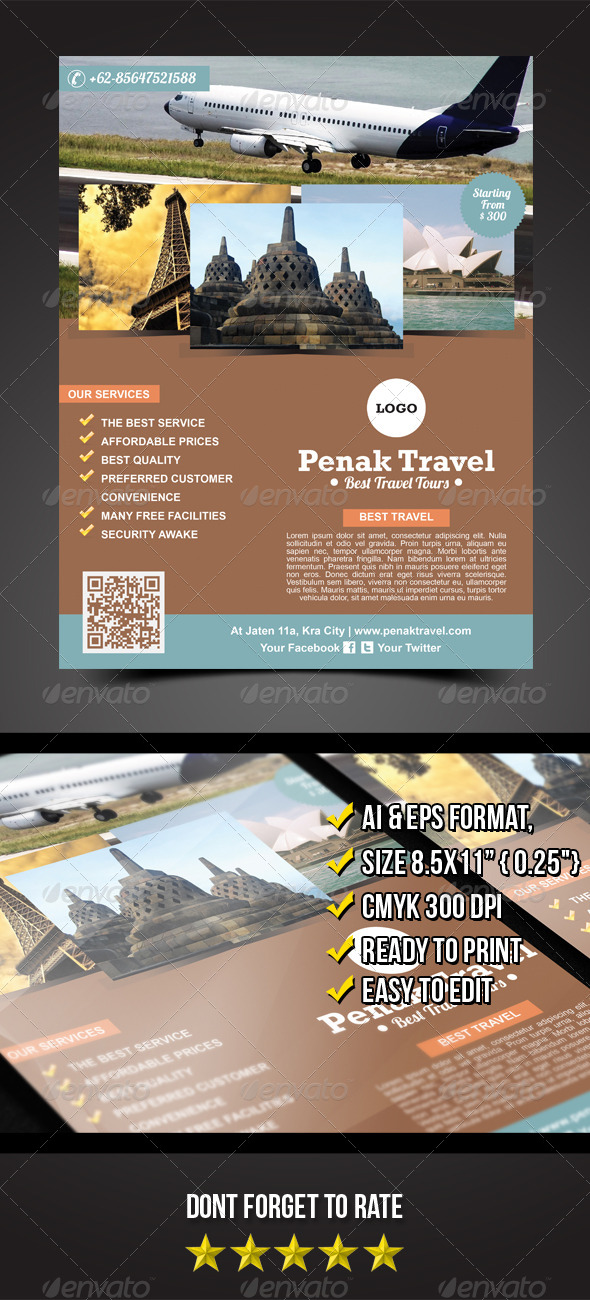 GraphicRiver Penak Travel Flyer 5593542