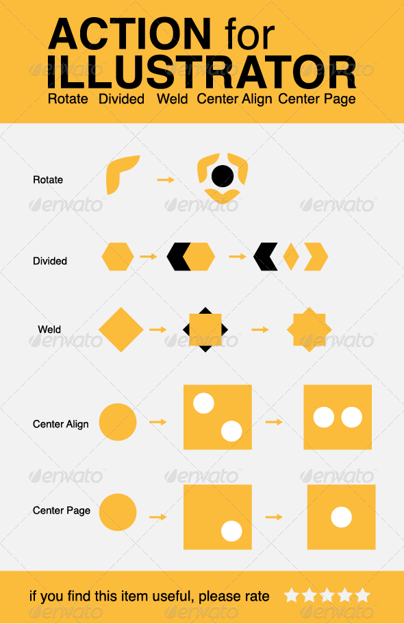 GraphicRiver Action for Illustartor Rotate Divide Weld Align 5693851
