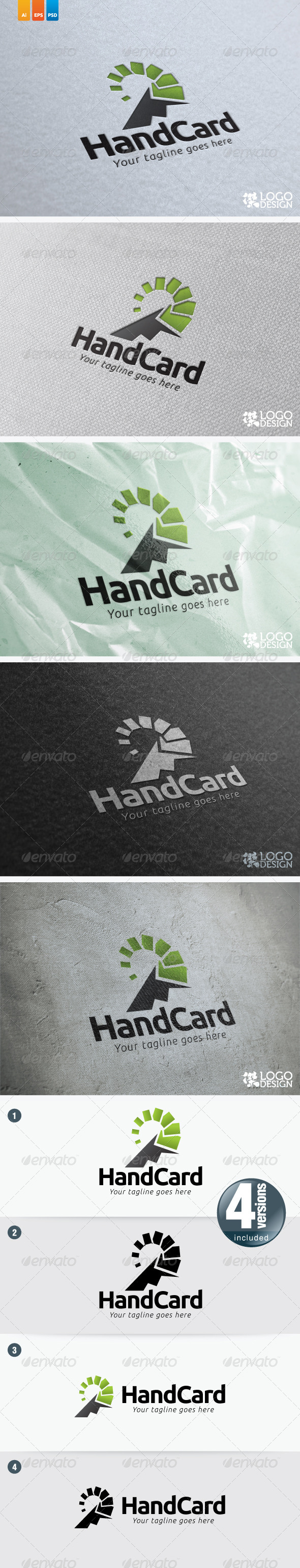Hand Card - Humans Logo Templates