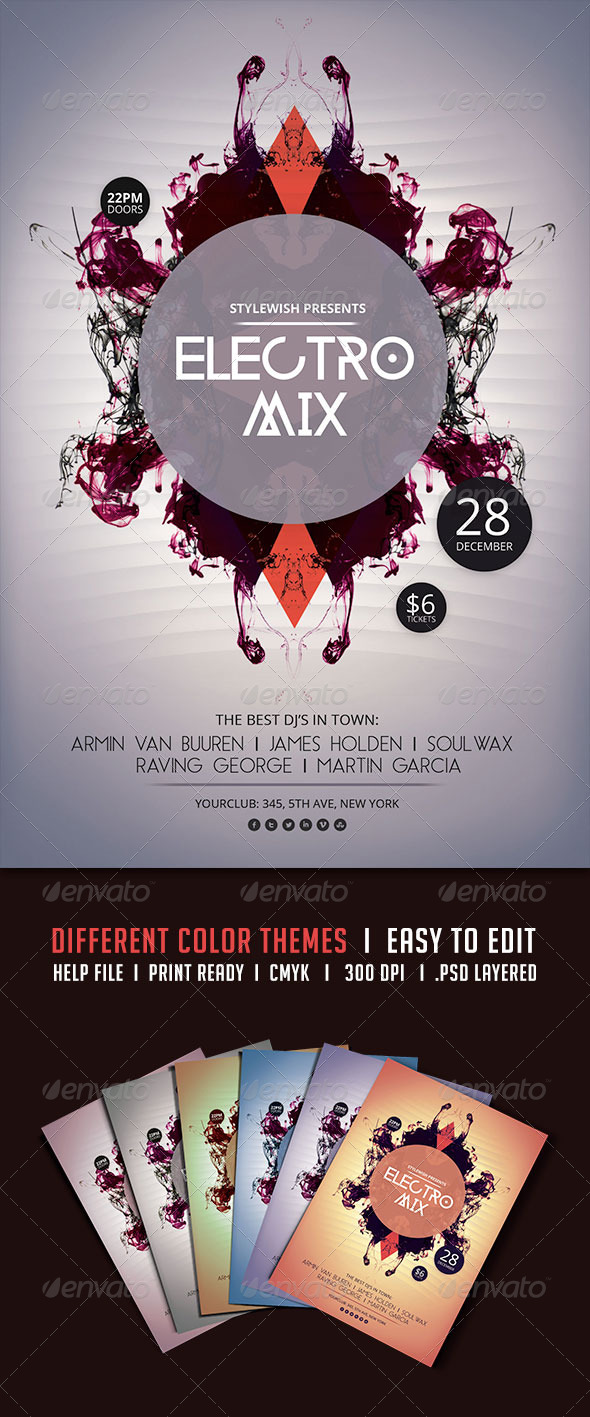 GraphicRiver Electro Mix Flyer 5693882