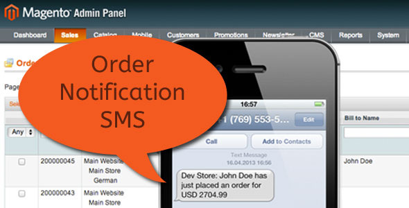 CodeCanyon New Order Notification SMS Text Message 5681679