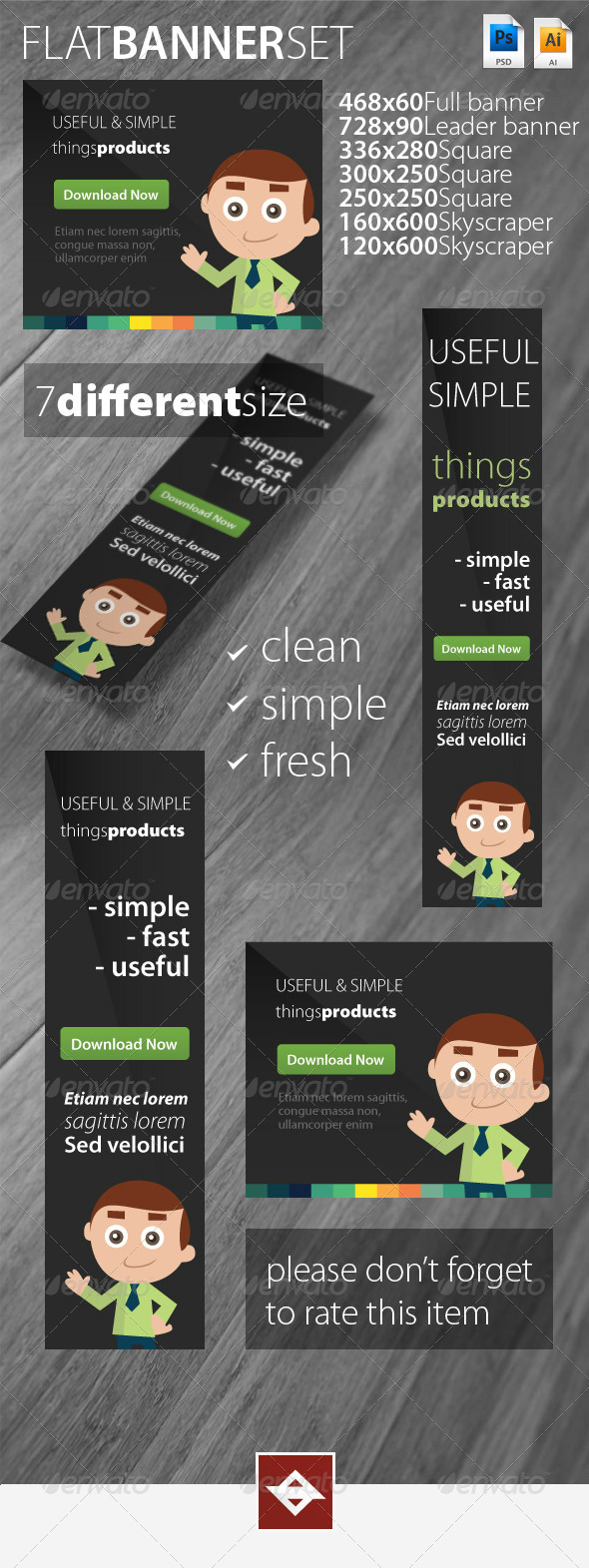 GraphicRiver Flat Banner Set 5694100