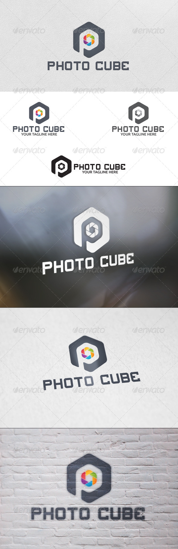 GraphicRiver Photo Cube Logo Template 5694124