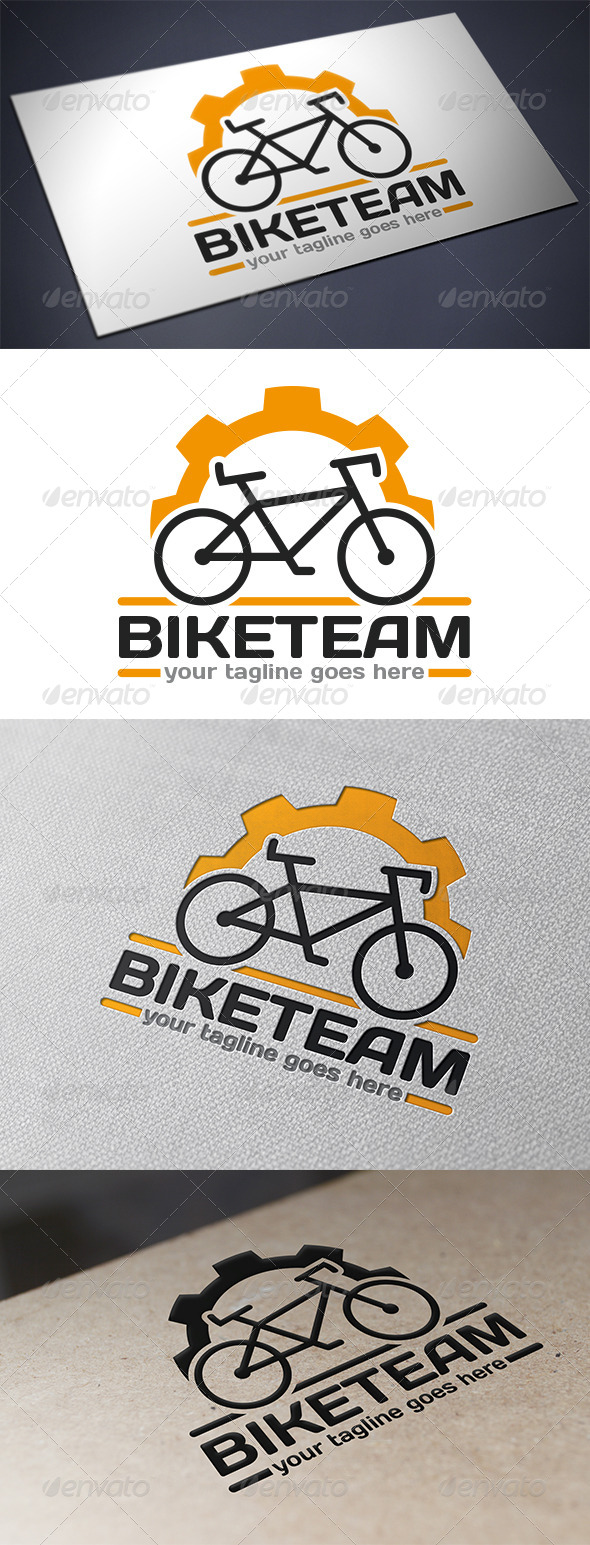 GraphicRiver Bike Team Logo 5694205