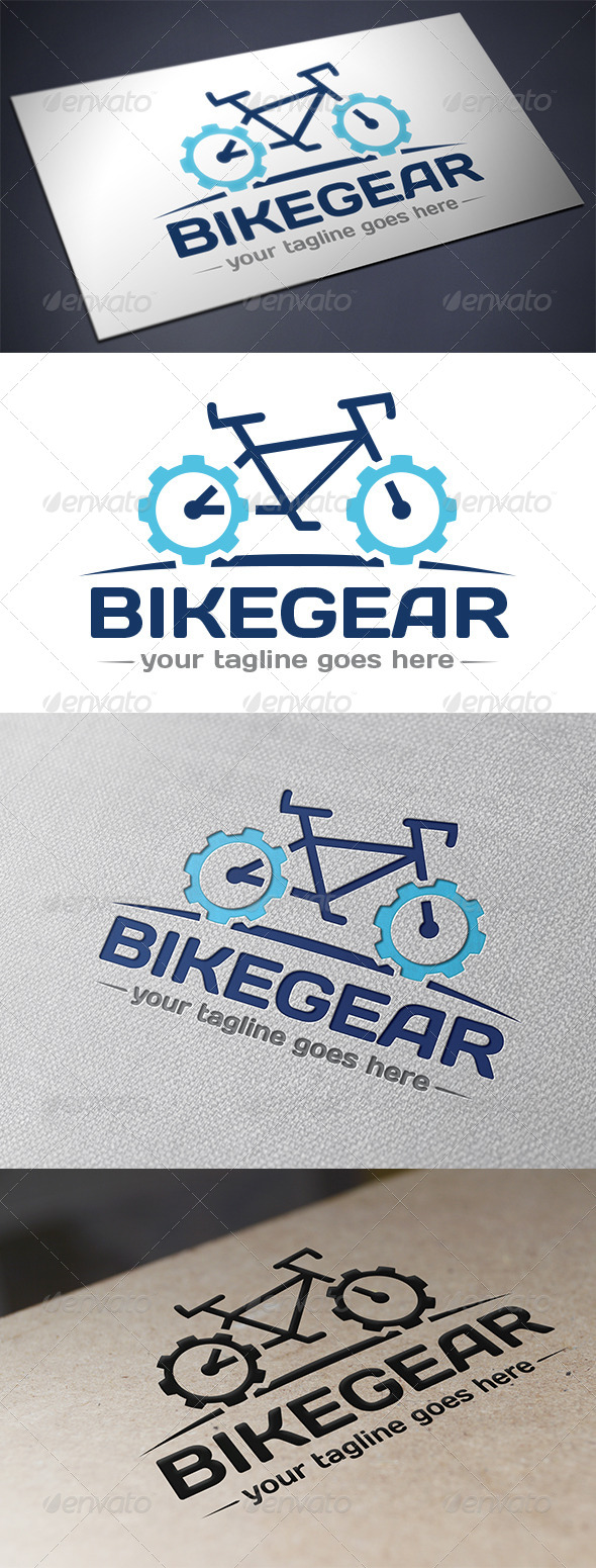 GraphicRiver Bike Gear Logo 5694212