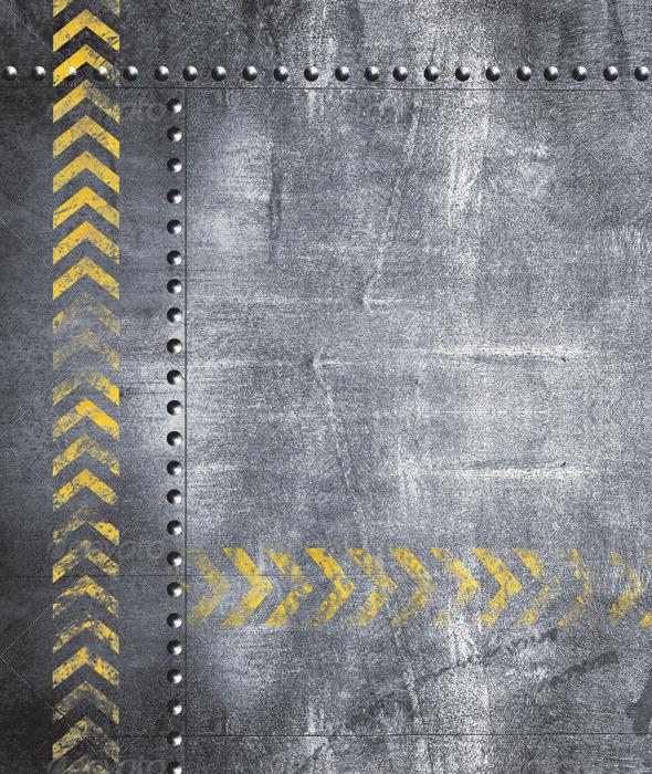 GraphicRiver Grunge Metal Plates Set Set of 7 5694413