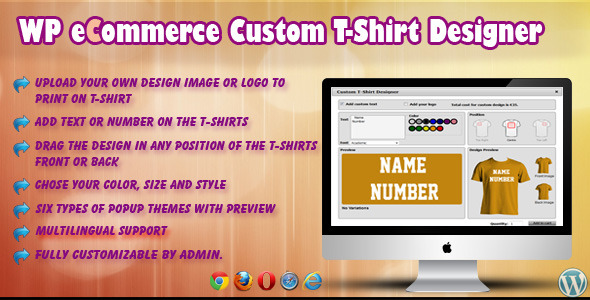 CodeCanyon WP eCommerce Custom T-Shirt Design Studio 5694709