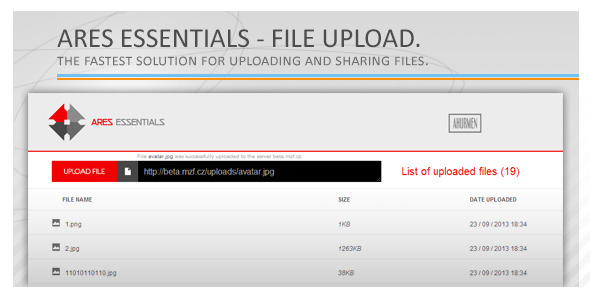 CodeCanyon Ares Essentials file upload 5680989