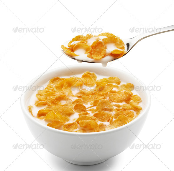 corn flakes - Stock Photo - Images