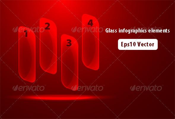 GraphicRiver Glass Infographics 5695282