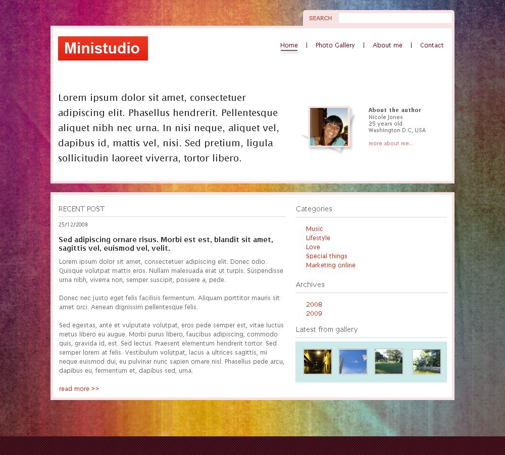 Ministudio PSD template