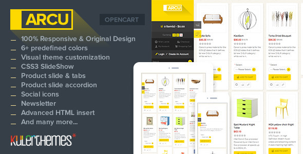 ThemeForest Arcu Responsive template for OpenCart store 5695339