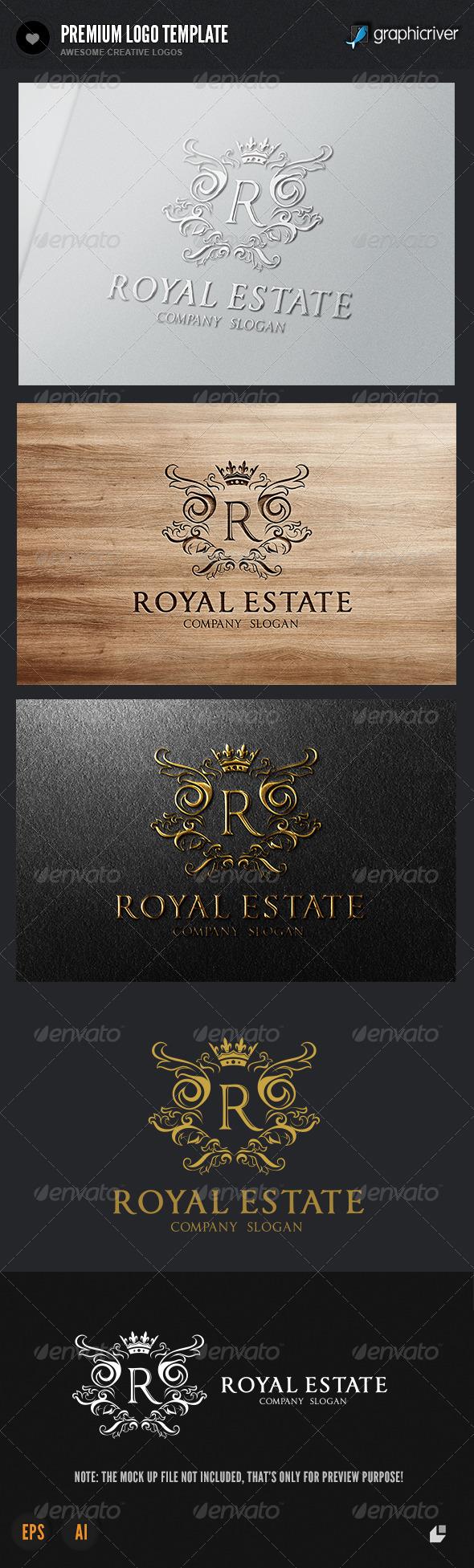 GraphicRiver The Royal Estate Logo 5695582