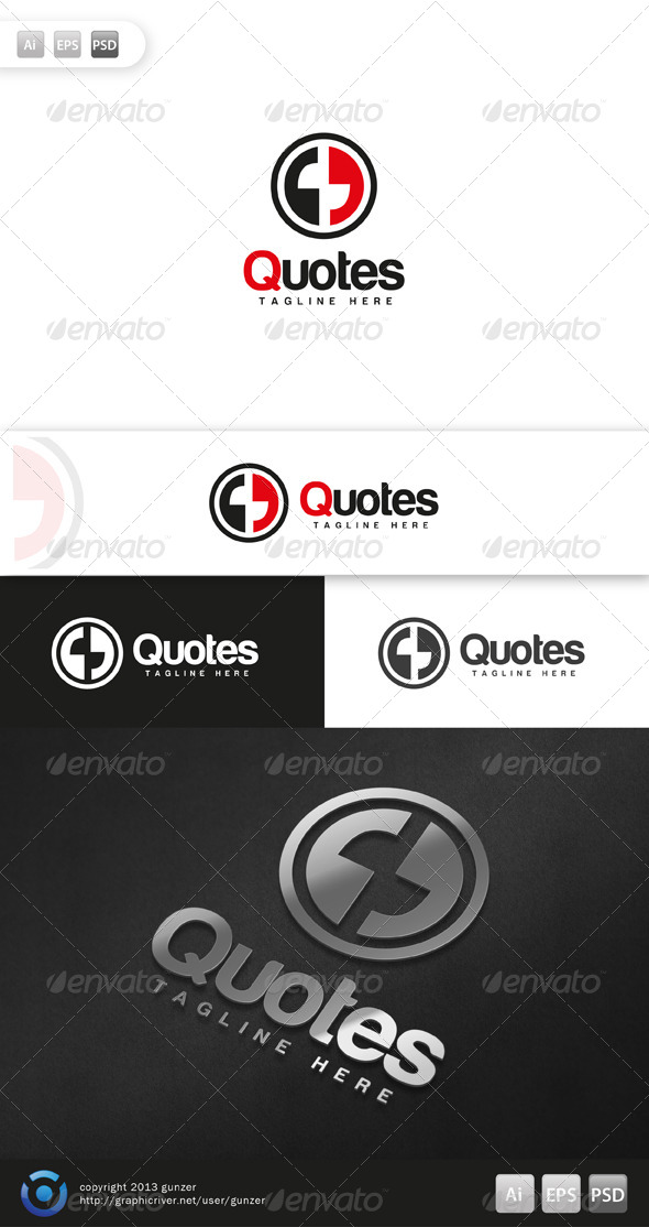 GraphicRiver Quotes Logo 5695594