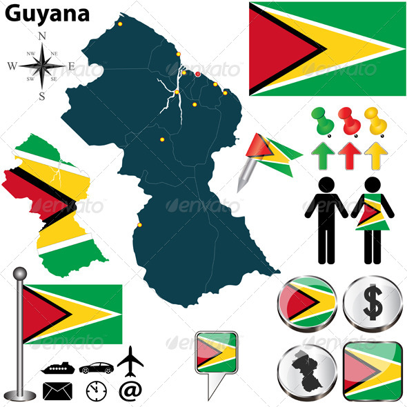 GraphicRiver Map of Guyana 5695916