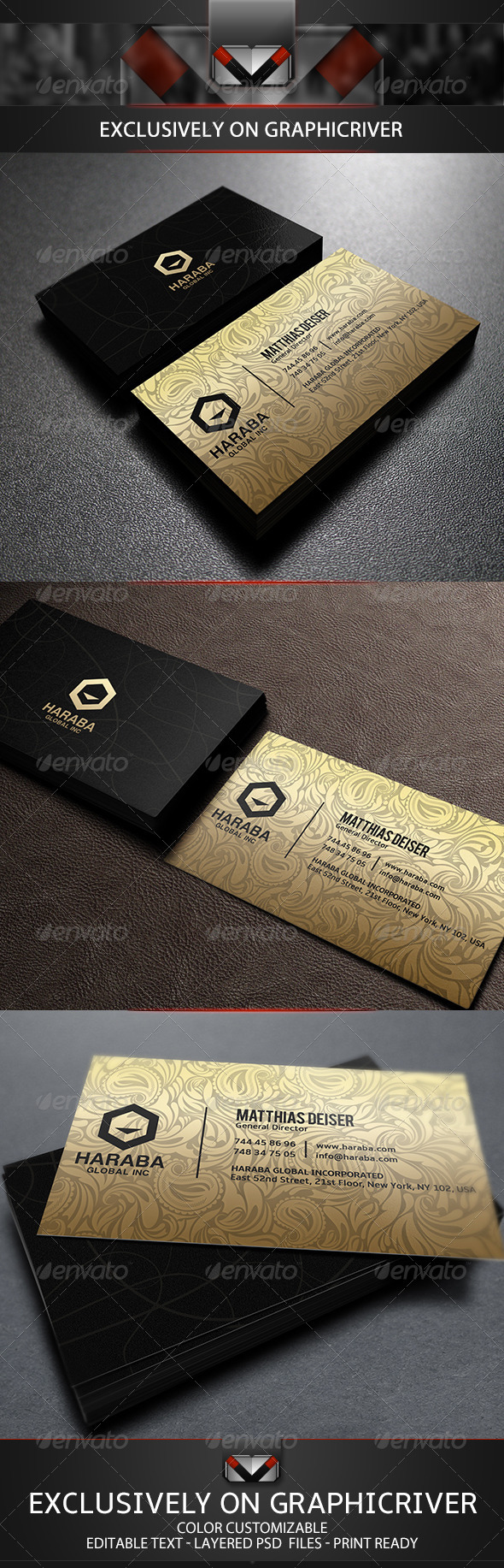 GraphicRiver Golden Business Card 5695918