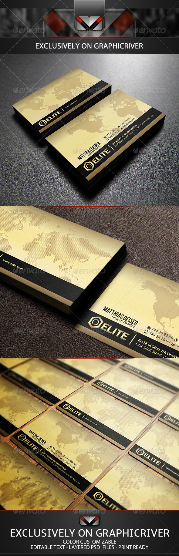 GraphicRiver Golden Corporate Business Card 5695944