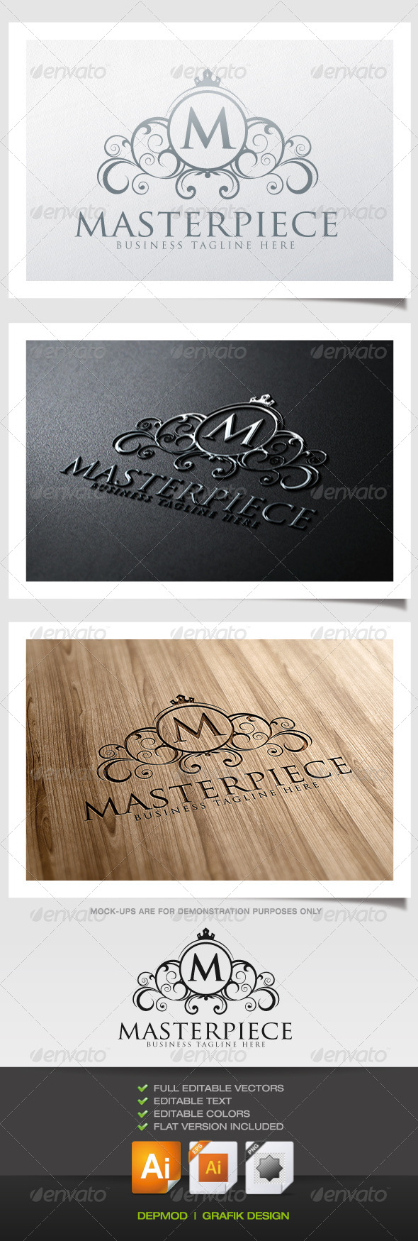 Masterpiece Logo - Crests Logo Templates