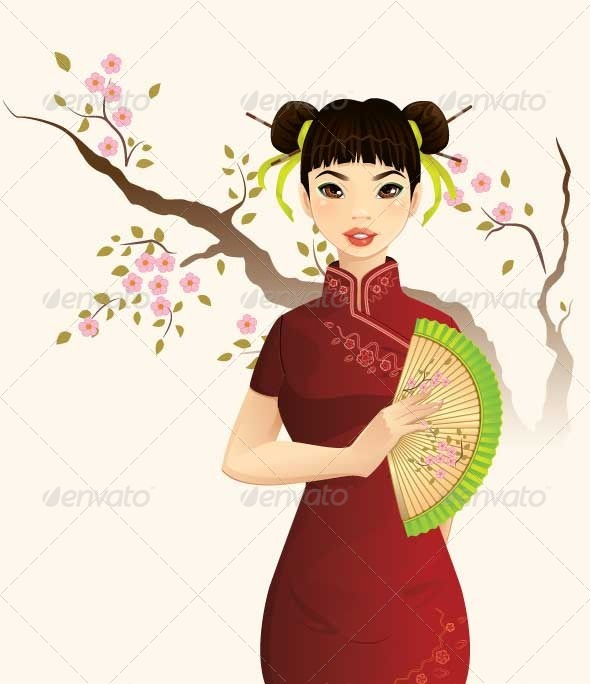 GraphicRiver Chinese Girl 5697252