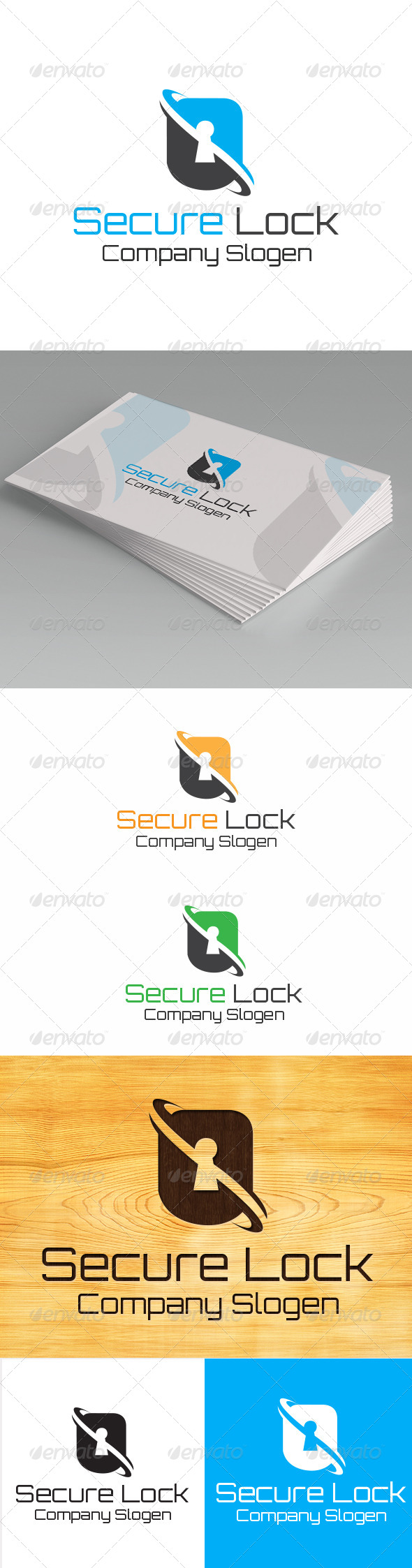 GraphicRiver Secure Lock Logo Template 5697305