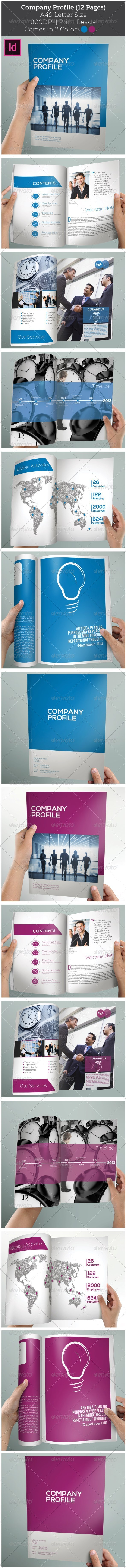 GraphicRiver Company Profile 12 Pages 5601063