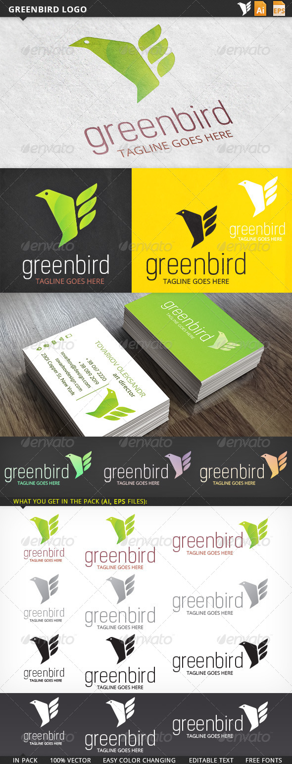 GraphicRiver Greenbird Logo 5697345